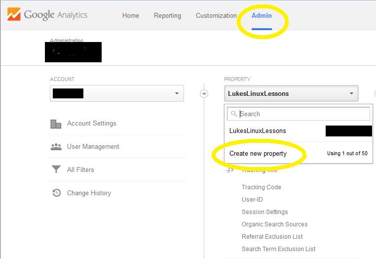 Create domain google analytics
